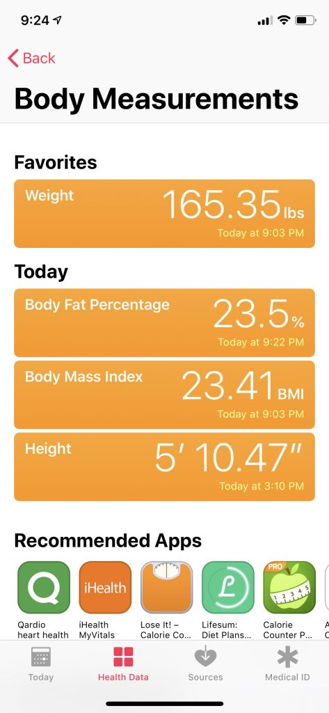 Health-app-body-measurements
