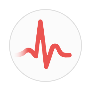 ECG Heart Rate Circle Icon