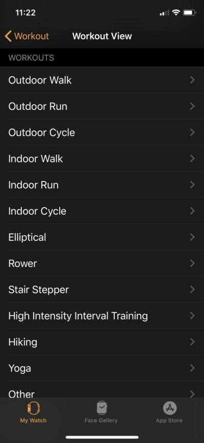 Watch-App-Workout