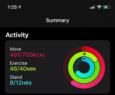 Activity-App-Summary-Rings