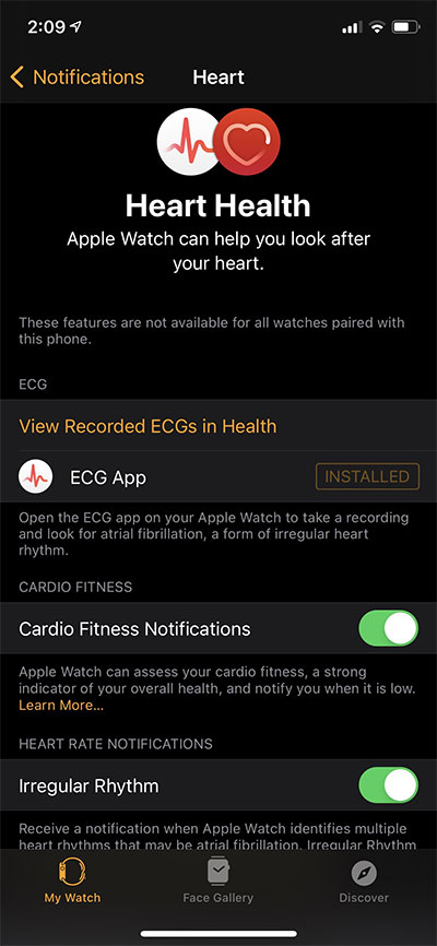 Cardio-Fitness-Notifications